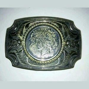 Peace Dollar Vintage Belt Buckle
